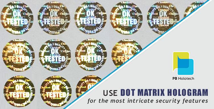 Security Rendering Features of Dot Matrix Hologram