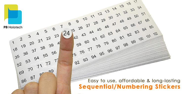 Key Advantages of Sequential or Numbering Stickers a Detail Study